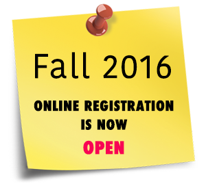 Sticky Note:Fall 2016 Registration
